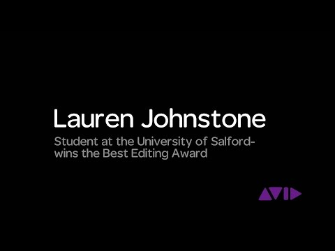 Lauren Johnstone Wins the University of Salford Student BAFTAR Award for Best Editing