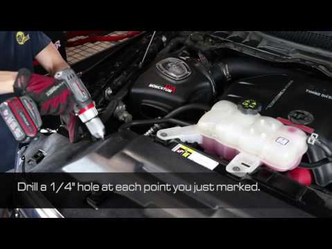How To Install aFe Power 14-16 RAM 1500 EcoDiesel V6-3.0L (td) Dynamic Air Scoop 54-72006-S