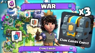 FIRST EVER CLAN WARS WINS & WAR CHEST OPENING X3 | Clash Royale NEW CLAN WARS CHESTS!
