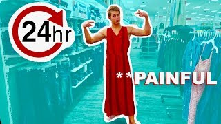 WEARING A DRESS FOR 24 HOURS!! **painful**