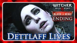 Witcher 3 🌟 BLOOD AND WINE ► No Ribbon Ending - Dettlaff Lives, Regis Stays, Yennefer Romance