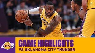 HIGHLIGHTS | LeBron James (25 pts, 10 ast, 11 reb) vs. Oklahoma City Thunder