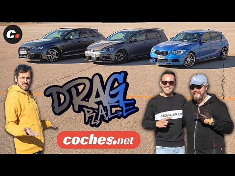 DRAG RACE Audi RS3 Sportback vs BMW M135i BR-Performance vs VW Golf R Unlimited Revo | coches.net