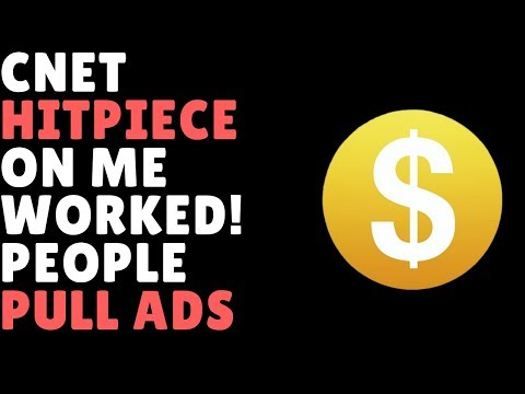 CNET Contacted My Advertisers & They Left
