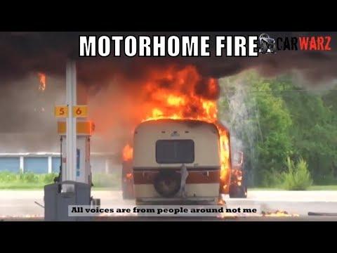 MOTORHOME GAS STATION FIRE IN MICHIGAN