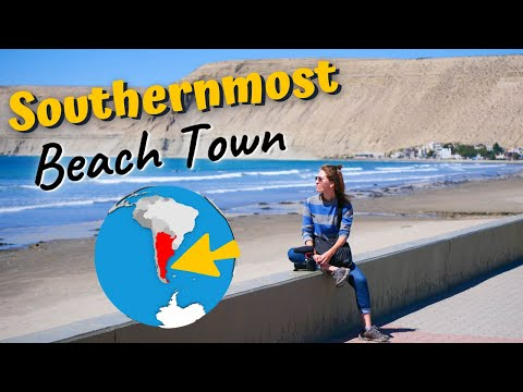 The SOUTHERNMOST BEACH Town on the American CONTINENT! 🌎⬇️ Visiting Rada Tilly in Chubut, Argentina