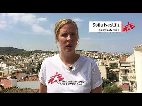 Flyktingar i Moria-lägret på Lesbos