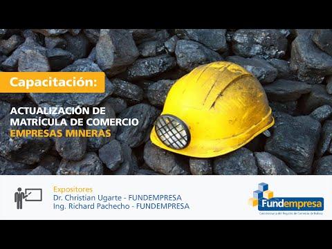 Actualización de Matrícula de Comercio - Empresas Mineras