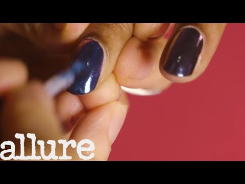 Chrome Nails: How to DIY the Metallic Manicure Trend | Nail Art Tutorials | Allure