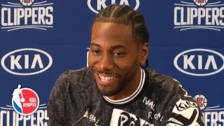 Kawhi gets laughs at Clippers introductory press conference with Paul George | NBA on ESPN