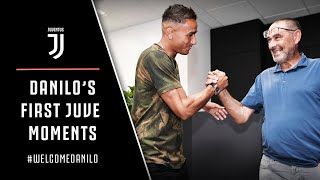 DANILO MEETS HIS TEAMMATES | First moments at Juventus | #WelcomeDanilo