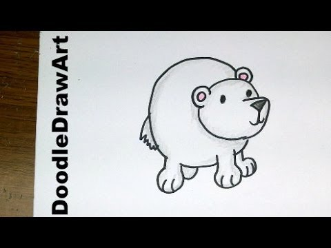 Drawing: How To Draw Cartoon Polar Bear Baby - So Cute and Easy Step by Step Lesson