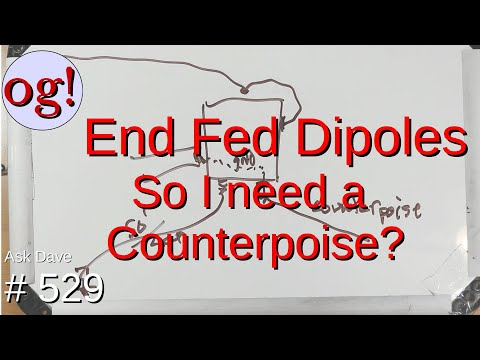 End Fed Dipoles : So I need a Counterpoise? (#529)