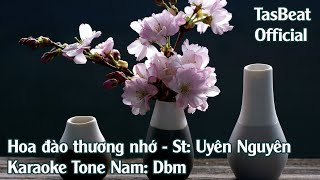Karaoke Hoa Đào Thương Nhớ - Tone Nam | TAS BEAT