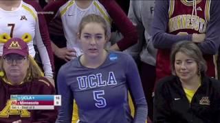 Minnesota vs UCLA 2016 NCAA Volleyball (Set 1)
