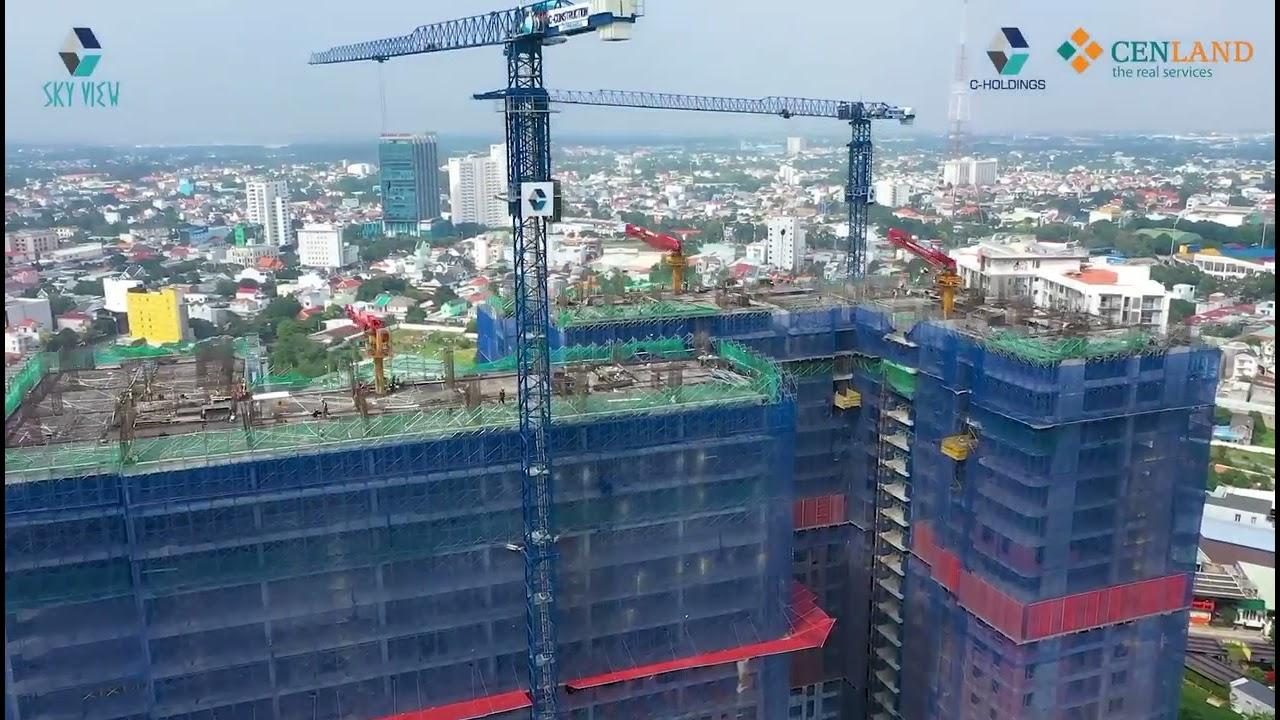 Cập nhật bảng giá tháng 06/2021 tại C - Sky View Chánh Nghĩa (xây đến tầng 31/36 tầng) video