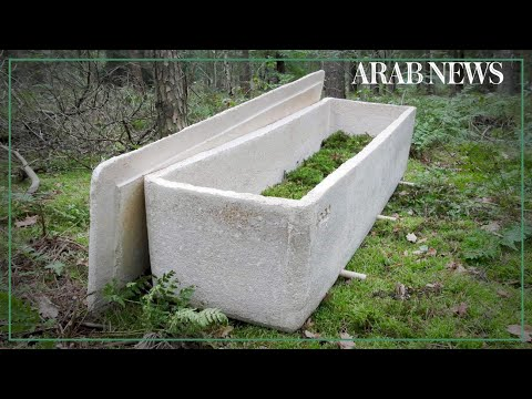 World's first 'living coffin' made from mushrooms in the Netherlands