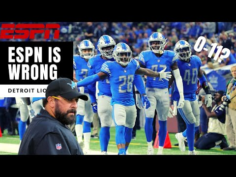 The Lions WON'T Start 0-11! ESPN Is WRONG! Detroit Lions Talk