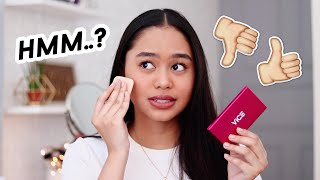 BYE BYE PORES?! Vice Cosmetics DUO FINISH Foundation REVIEW | ThatsBella