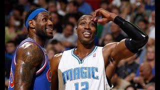 The game when Dwight Howard mocks LeBron's chalk toss Bronny James
