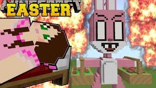 Minecraft: BURNING EASTER (EASTER BUNNY & EASTER EGGS!!) Mini-Game