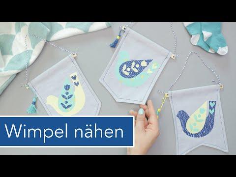 Wimpel fürs Kinderzimmer nähen | Applikationen