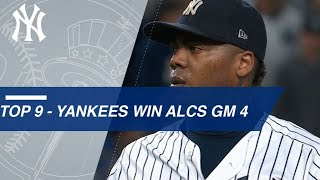 Watch the Yankees close out the 9th in ALCS Game 4