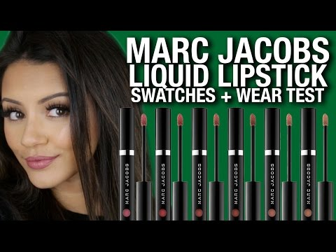 NEW MARC JACOBS LIQUID LIPSTICK ? SWATCHES + REVIEW