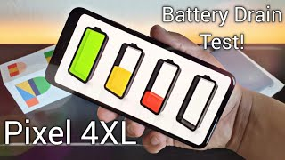 Google Pixel 4 XL Real Life All Day Battery Drain Test!