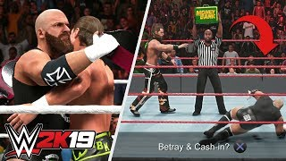 WWE 2K19 What Happens If You Cash in MITB on Your Tag Team Partner?