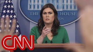 Sarah Sanders denies lying despite previous admission
