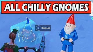 "ALL 7 ""Search Chilly Gnomes"" LOCATIONS WEEK 6 CHALLENGES FORTNITE SEASON 7 (CHILLY GNOME LOCATIONS)"