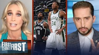 'It wasn't great' — Sarah Kustok on Nets' back-to-back loss to Bucks | NBA | FIRST THINGS FIRST