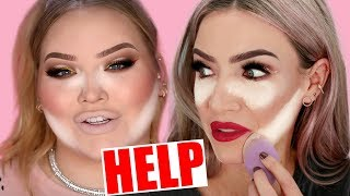 I TRIED FOLLOWING A NIKKIETUTORIALS MAKEUP TUTORIAL... not good!