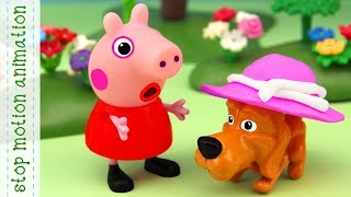 Peppa's hat Peppa Pig TV toys stop motion animation