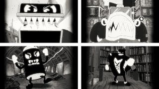ALL BOSS FIGHTS Bendy in Nightmare Run Gameplay And Walkthrough