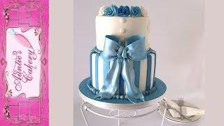 Cinderella Blue Birthday Cake Tutorial