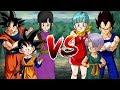 Goku, ChiChi & Goten VS Vegeta, Bulma & Trunks  - Dragon Ball Song Đấu
