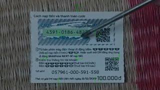Lấy lại mã số thẻ nạp Mobifone