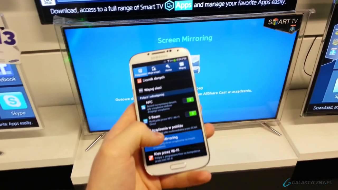 Samsung Galaxy S4 Screen Mirroring Allshare Cast Pl Eng