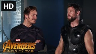 NEW INFINITY WAR FEATURETTE: Behind Scenes with Chris Pratt, Chris Hemsworth & more Avengers Family