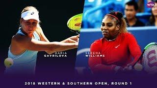 Daria Gavrilova vs. Serena Williams | 2018 Western & Southern Open Round One | WTA Highlights