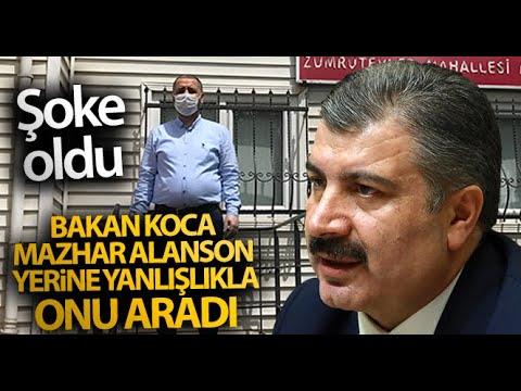 Sağlık Bakanı Koca, Mazhar Alanson Yerine Yanlışlıkla Mahalle Muhtarını Aradı