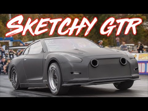 Sketchy 2300HP GTR goes 210mph in 7 Seconds - BRUTAL  ACCELERATION!