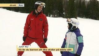 Så lär du barnen åka skidor - Nyhetsmorgon (TV4)