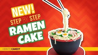 How To Make A Ramen Cake by Cassie Garner   Gravity Cake   How To Cake It Step By Step
