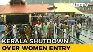 Kerala bandh today over Sabarimala; a protester dies in cl..