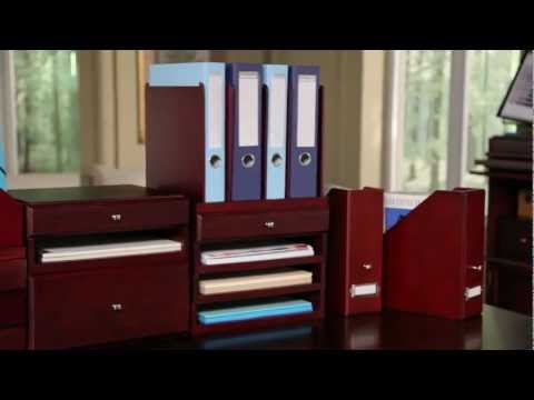 Bindertek Wood Options Desktop Organizers