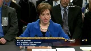 Elena Kagan Opening Statement