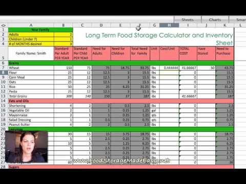 Long Term Food Storage Calculator Youtube